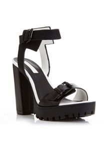 CHICAGO Black Cleated Sandal