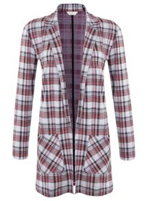 Red Tartan Duster Jacket