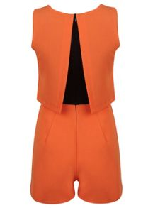 Petites Orange Playsuit