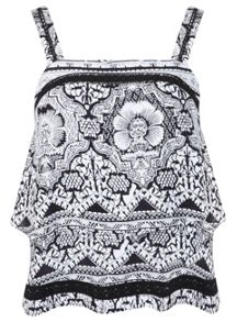 Print Embroidered Camisole