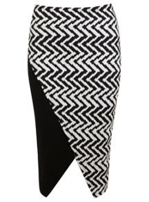 Geo Block Pencil Skirt
