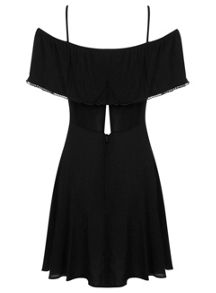 Petite Black Gypsy Cami Dress
