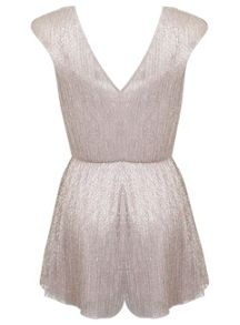Petites Blush Plisse Playsuit