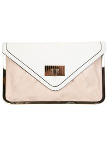 Nude Metal Frame Clutch