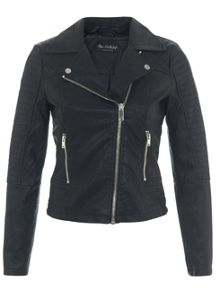 Miss Selfridge Ruby Faux Leather Biker