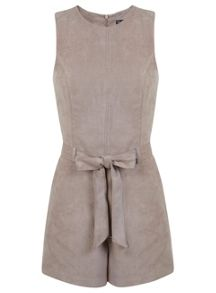 Suedette Belted Playsuit