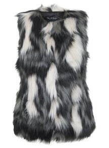 Miss Selfridge Gry,Crm,Blk Gilet