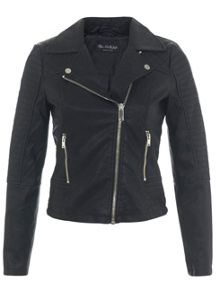 Petites Faux Leather Jacket