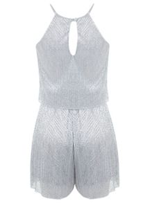 Silver Lurex Playsuit