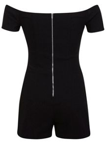 Black Bardot Playsuit