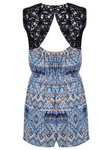 Aztec Crochet Playsuit