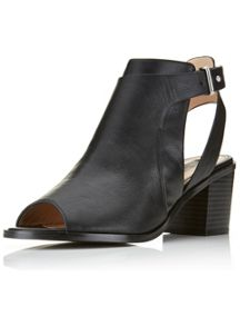 ARC Peep Toe Ankle Boot