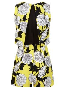 Petites Yellow Floral Playsuit