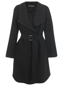 Buckle Detail Wrap Coat