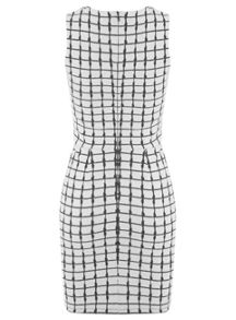 Checked Wrap D-Ring Dress