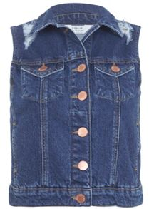 Dark Wash Denim Gilet