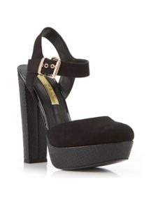 Sunset Black Platform Heel