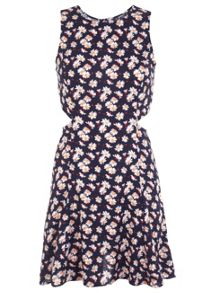 Petites Daisy Cut Out Dress