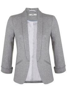 Miss Selfridge Petites Grey Ponte Blazer