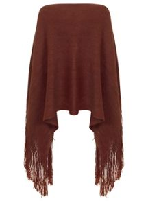 Rust Knitted Poncho