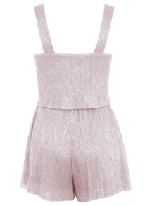 Petites Blush Overlay Playsuit