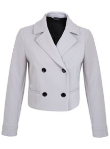Bonded Crepe Button Jacket