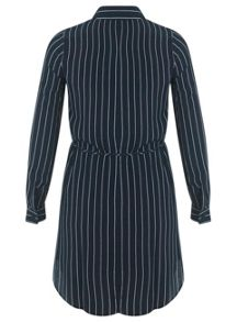 Petites Pinstripe Shirt Dress
