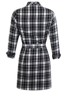 Petites Check Shirt Dress