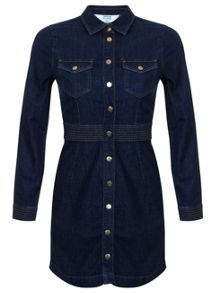 Petites Denim Shirt Dress