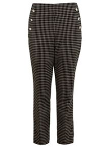 Miss Selfridge Check Button Detail Trouser
