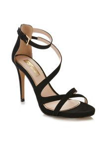 Miss Selfridge CLOVER Black Strappy Sandal