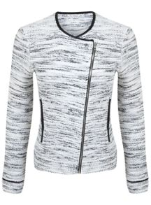 Miss Selfridge Cream Biker Jacket