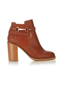 ANAIS Snaffle Trim Ankle Boots