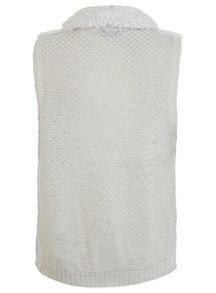 Cream Waterfall Knitted Gilet