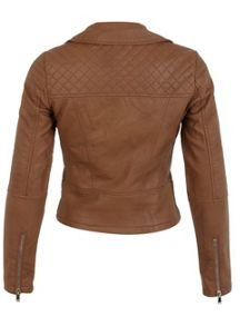 Miss Selfridge Tan Ruby Biker