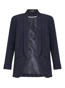 Miss Selfridge Navy Ponte Blazer