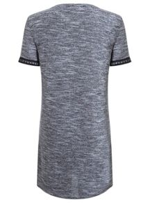 Grey Embroidered Boucle Tunic