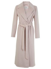 Miss Selfridge Pink Maxi Coat