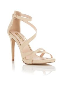 Miss Selfridge CLOVER Nude Strappy Sandal