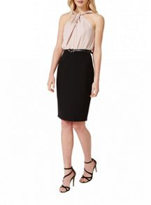 Miss Selfridge Twisted Halter Belted Dress