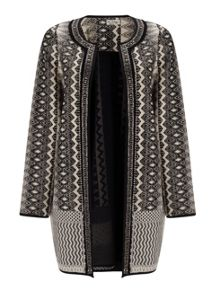 Miss Selfridge Black And Cream Jacket