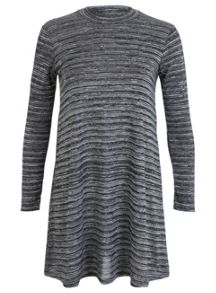 Petites Grey Swing Dress