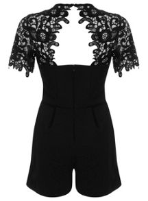 Lace Trim Playsuit