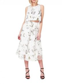 Miss Selfridge Floral Organza Skirt