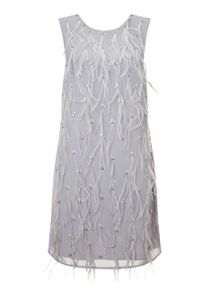Miss Selfridge Embellished Feather Shift Dress