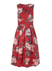 Miss Selfridge Red Floral Prom Dress