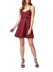 Petites Burgundy Skater Dress