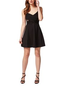 Petites Black Skater Dress