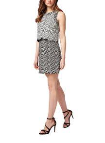 Petites Jacquard Scallop Dress