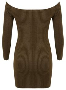 Petites Olive Bardot Dress